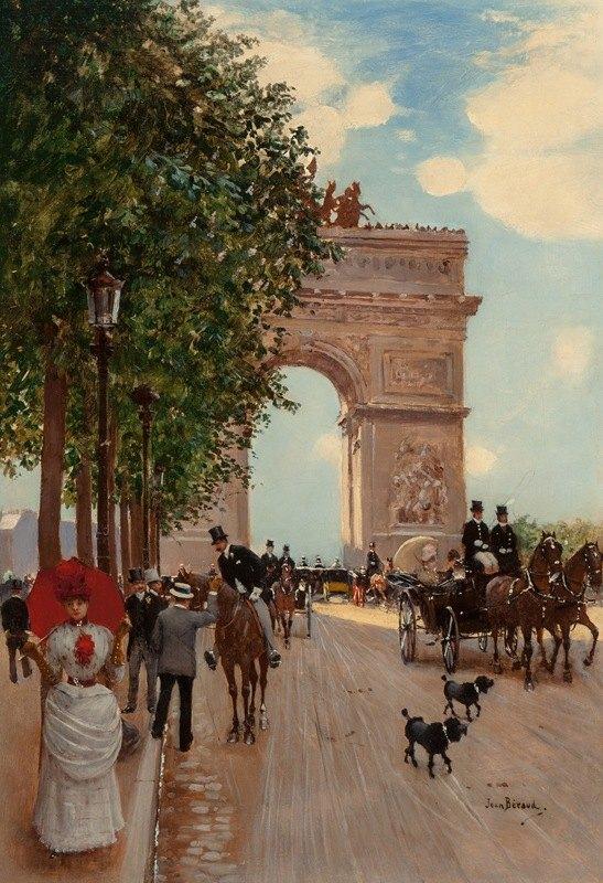 Jean Béraud - L'Arc de Triomphe, Champs-Elysées