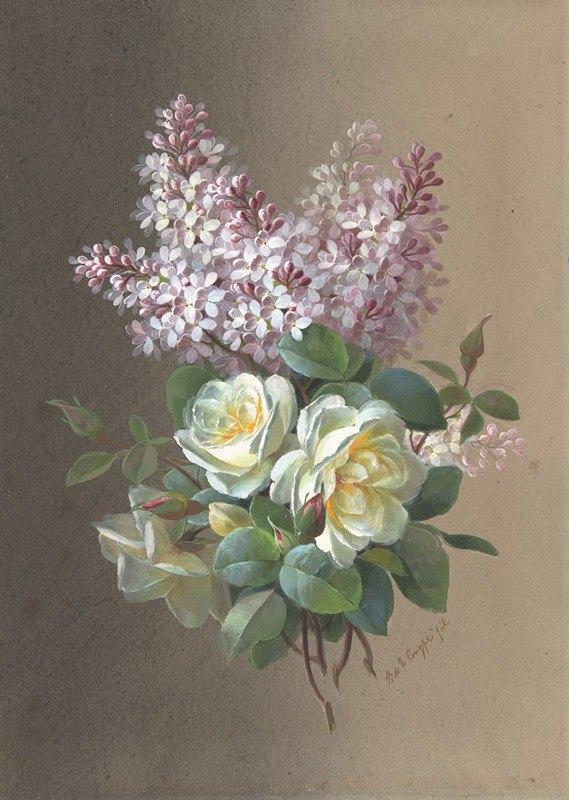 Paul de Longpre - Roses and Lilacs