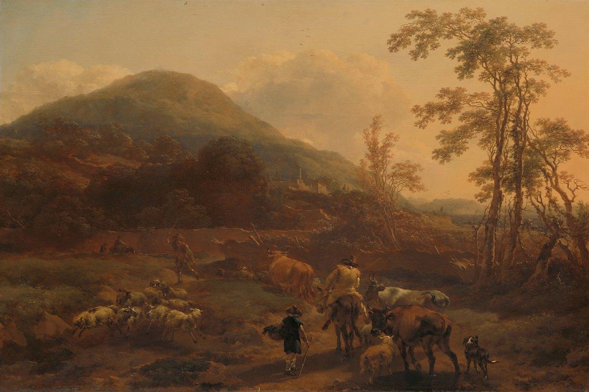 Nicolaes Pietersz. Berchem - The Three Droves