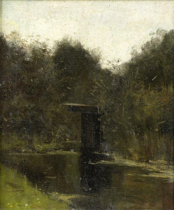 Richard Nicolaüs Roland Holst - Corner of a Pond near Breukelen