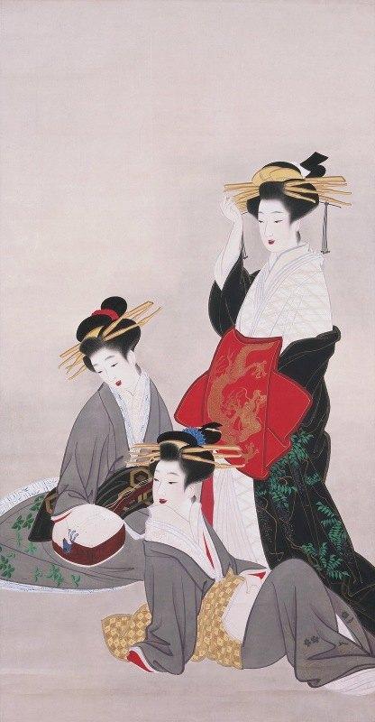 Yamaguchi Soken - Women in the Demimonde