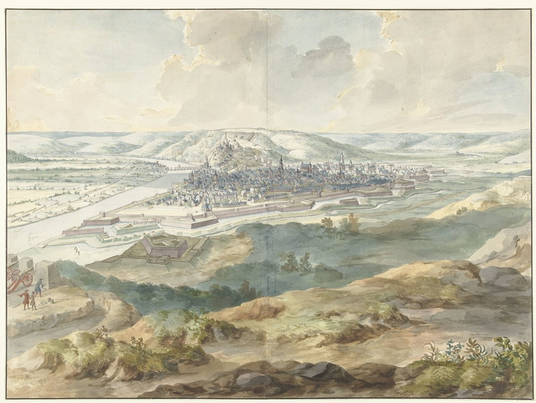 Dirk Maas - View of Namur from the East during the Siege of 1695