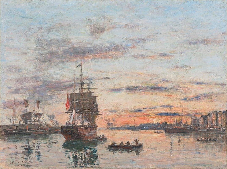Eugène Boudin - Le Havre. L'avant-port