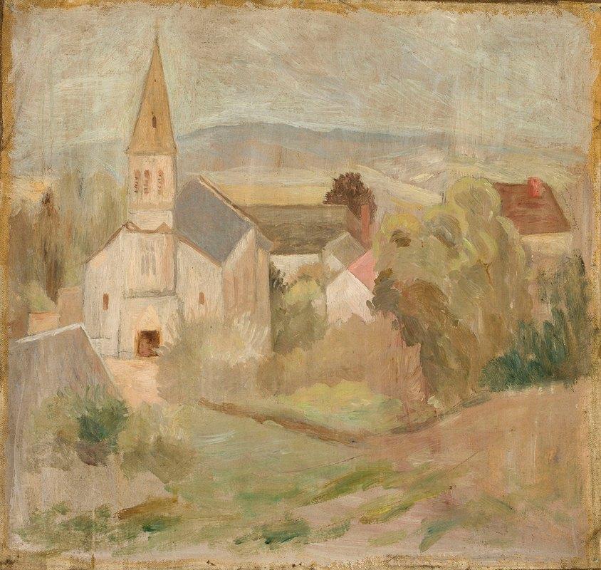 Tadeusz Makowski - Pejzaż z kościółkiem (La Comelle)