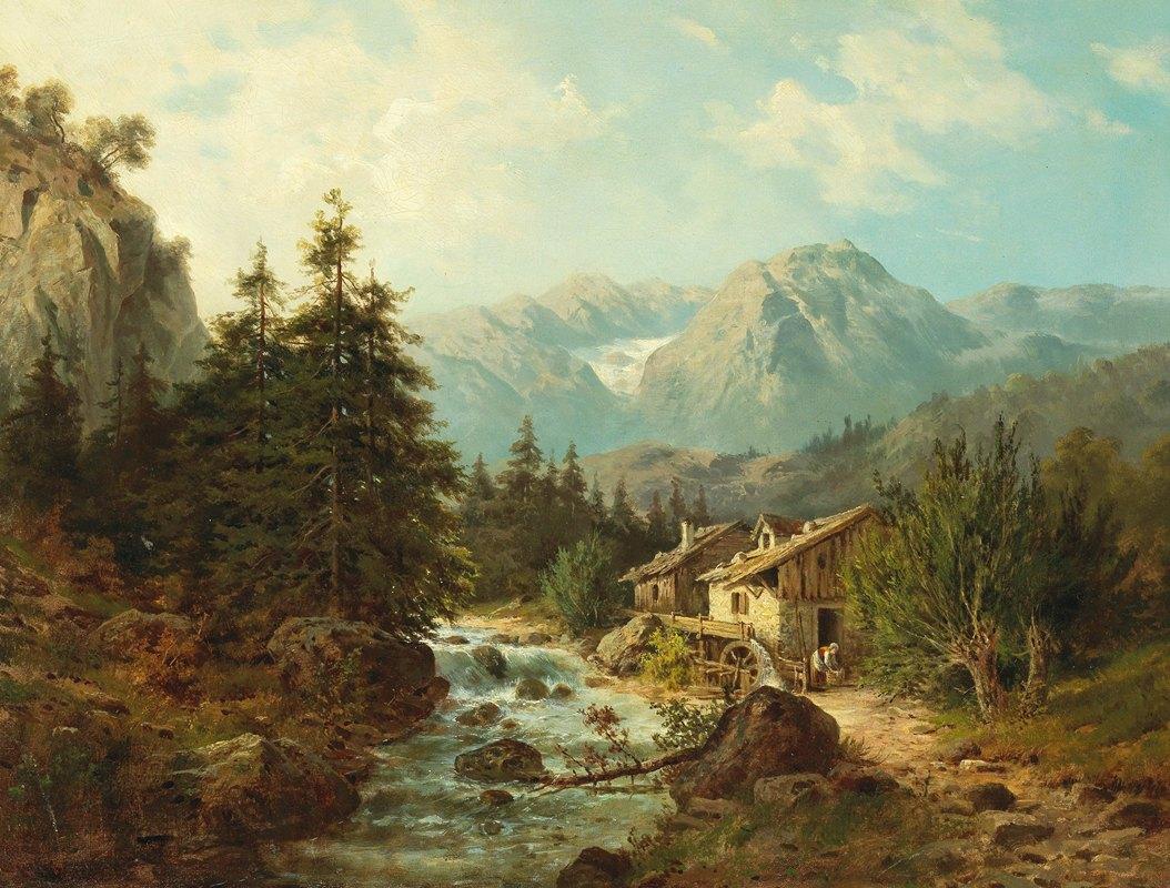 Julius Rose - Mühle am Gebirgsbach