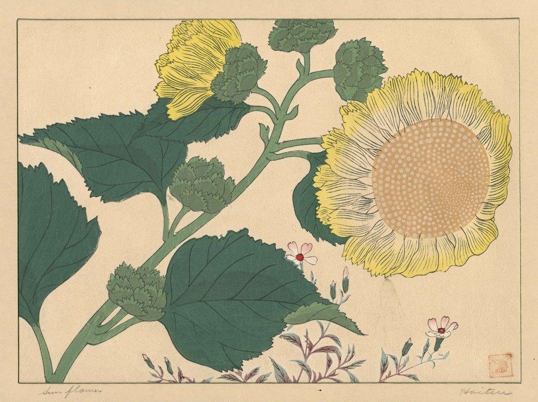 Sakai Hōitsu - Sun flowers