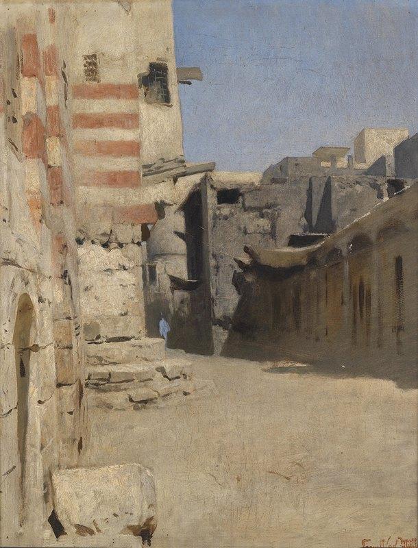 Leopold Carl Müller - Straße Birket el-Kherum in Kairo