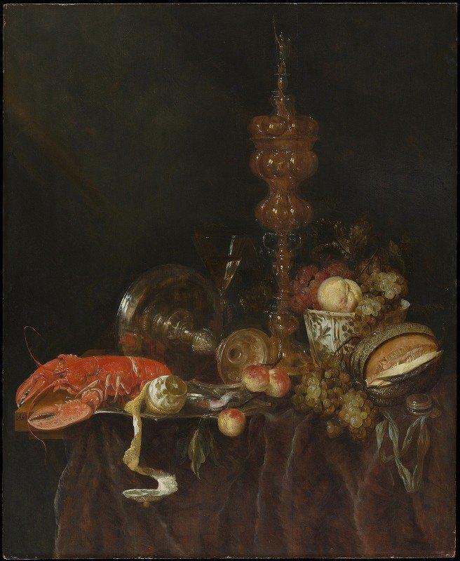 Abraham van Beyeren - Still Life with Lobster and Fruit