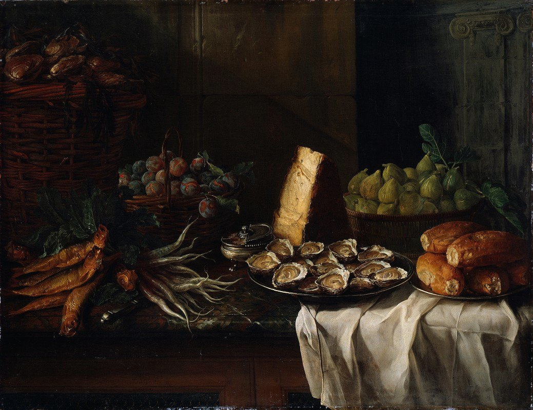 Alexandre François Desportes - Breakfast Piece with Oysters