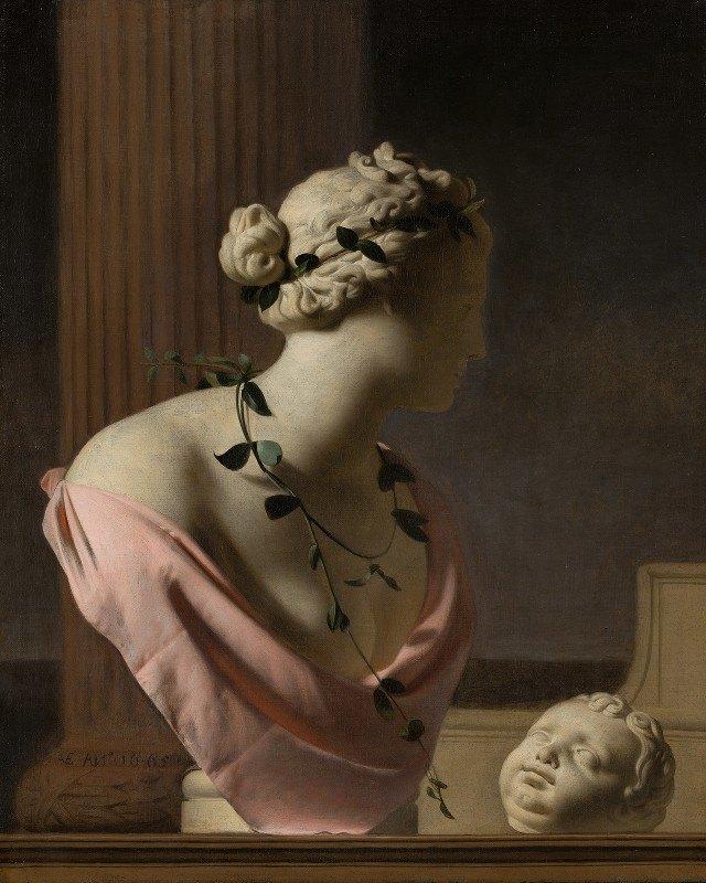 Caesar Van Everdingen - Trompe l'Oeil with a Bust of Venus