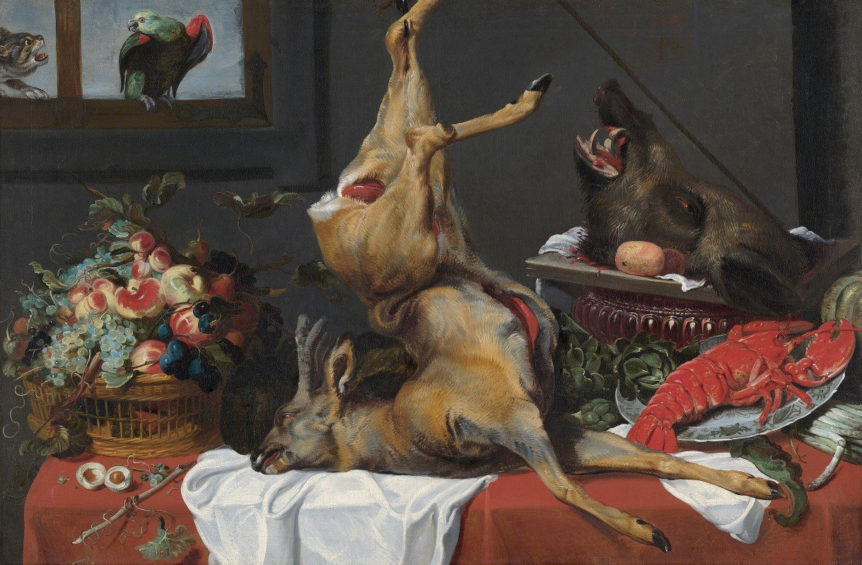 Frans Snyders - Still Life with a Dead Stag