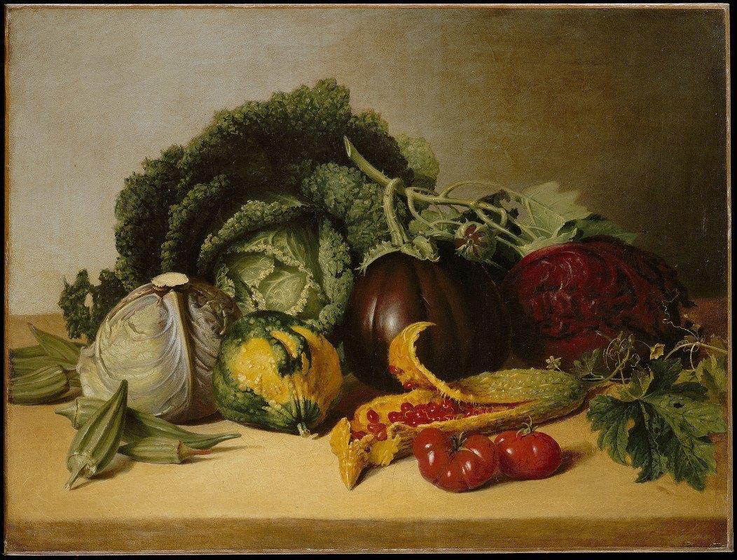 James Peale - Still Life, Balsam Apple and Vegetables