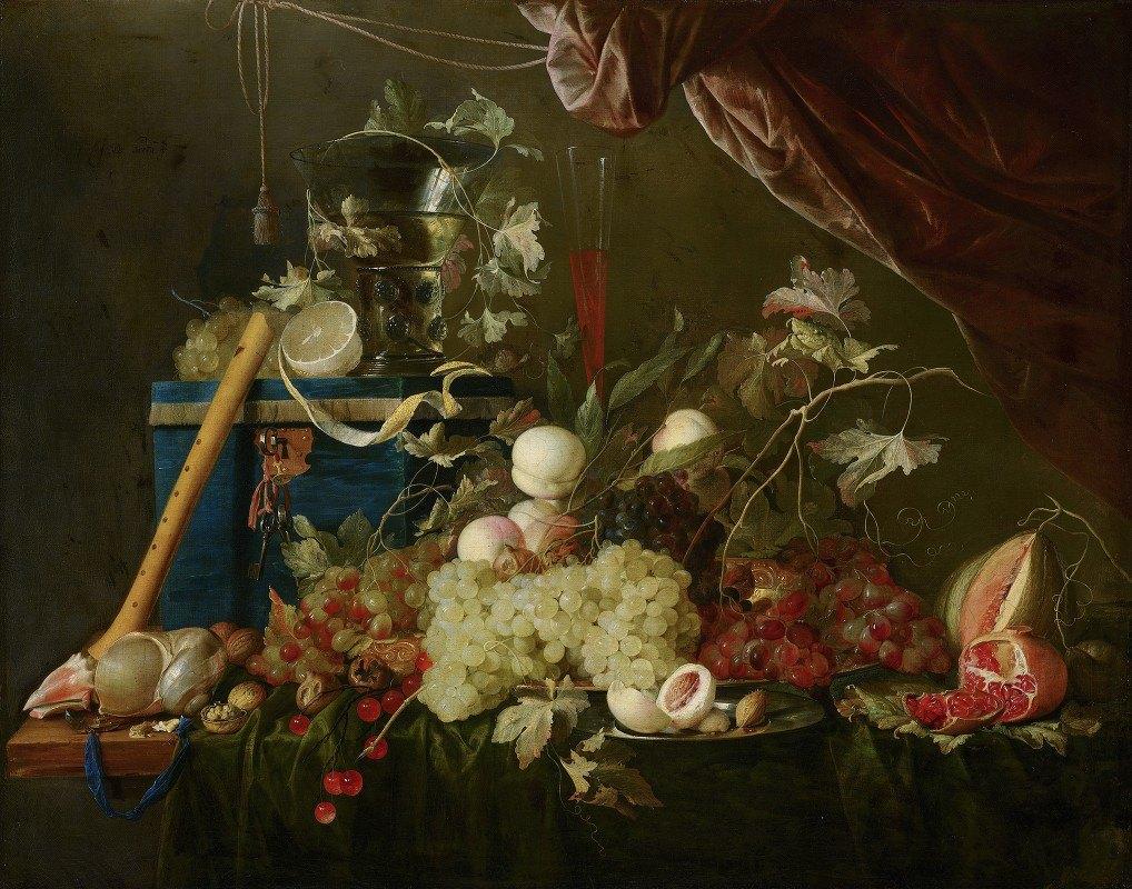 Jan Davidsz de Heem - Sumptuous Fruit Still Life with Jewellery Box