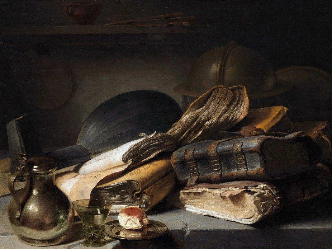 Jan Lievens - Still Life with Books