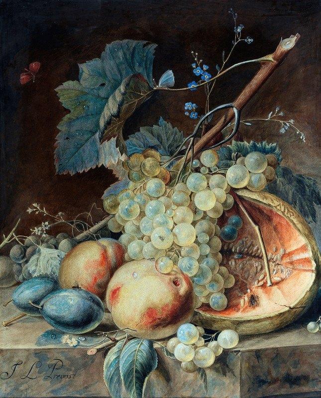 Jean Louis Prévost d.y. - Still Life with Fruit