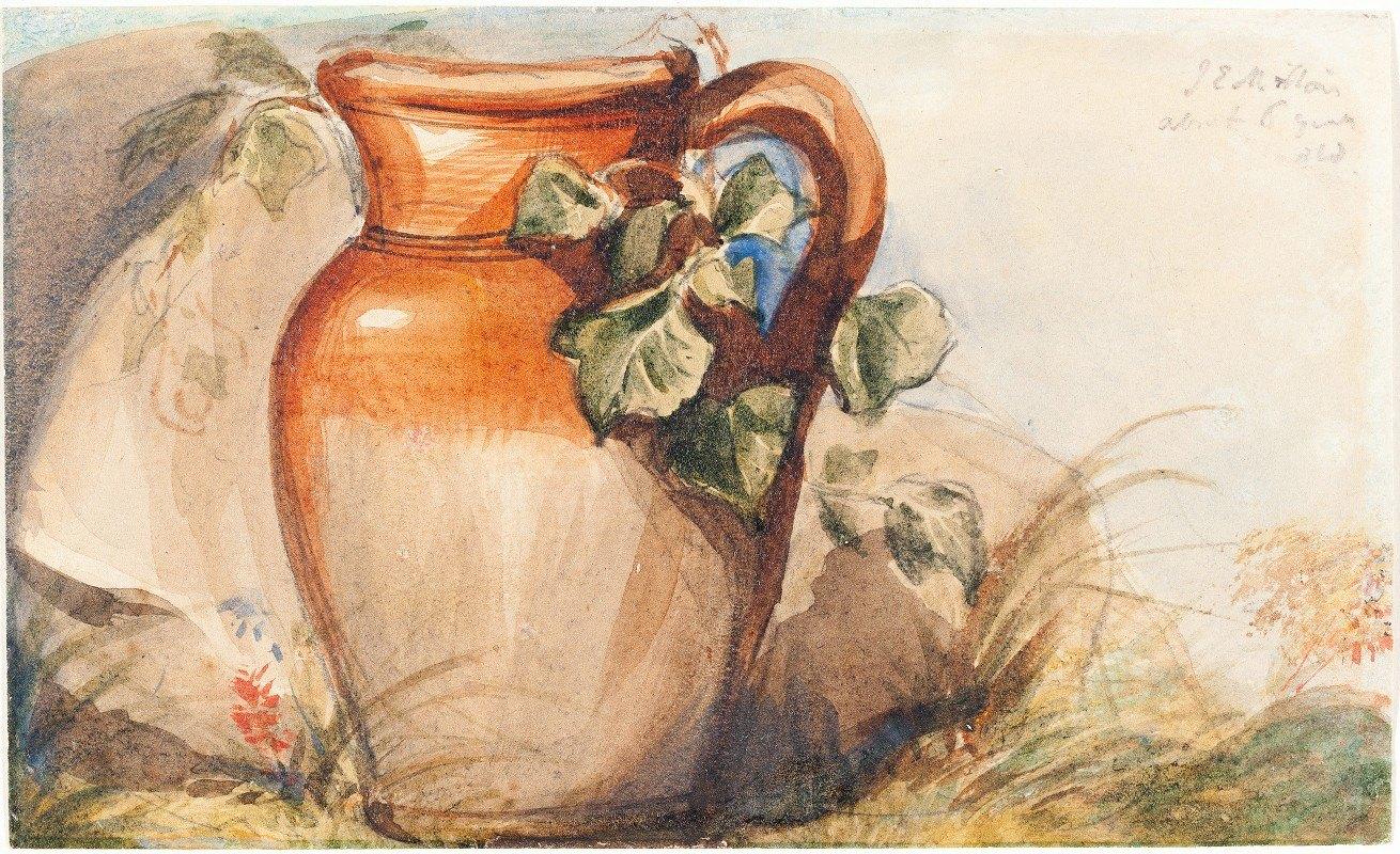 Sir John Everett Millais - Study of a Pottery Jug (recto)