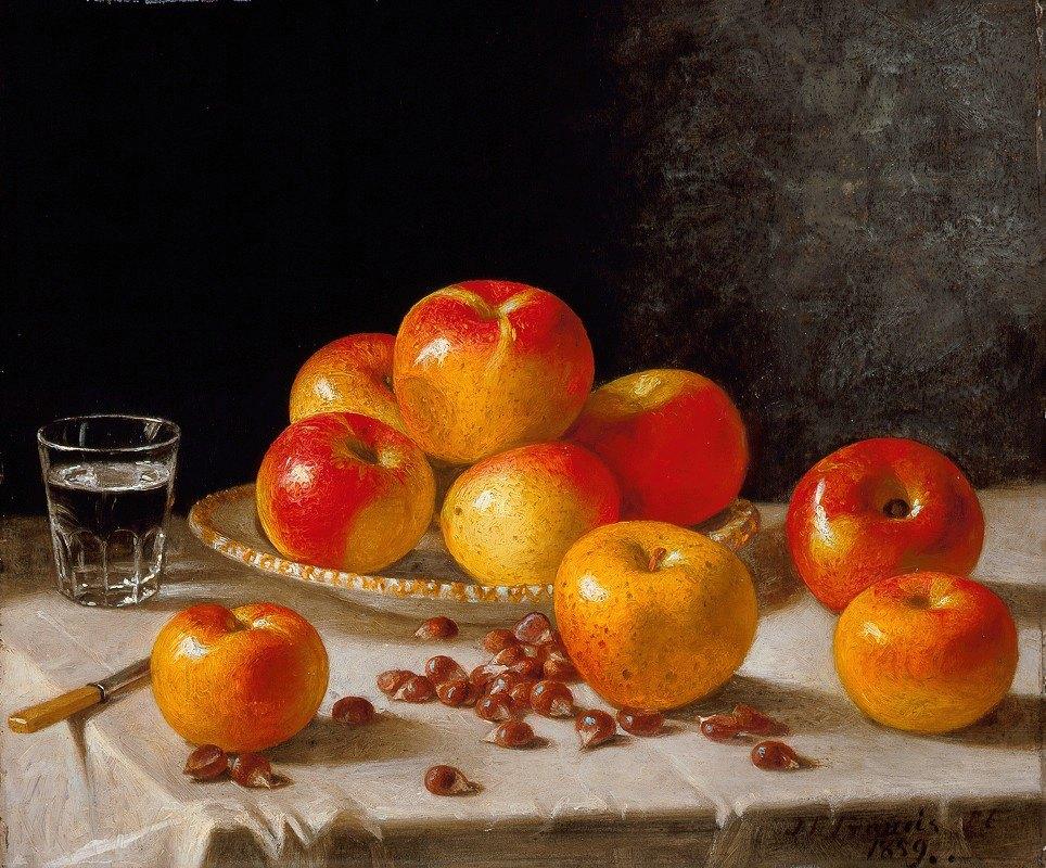 John F. Francis - Still Life, Apples and Chestnuts