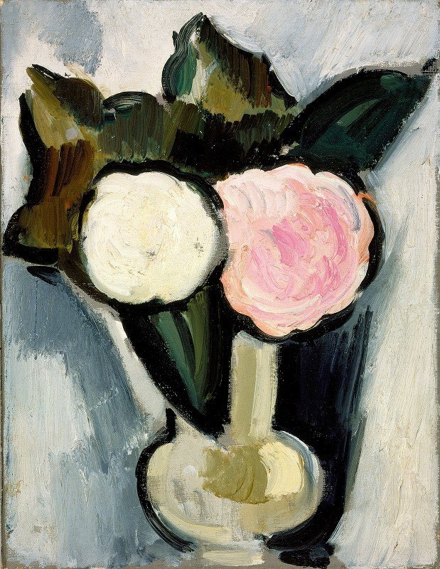 Marsden Hartley - Pink and White Flowers in a Vase