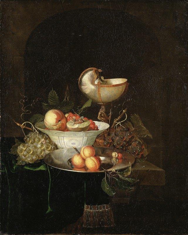 Nicolaes van Gelder - Still Life with Fruit and a Nautilus Goblet