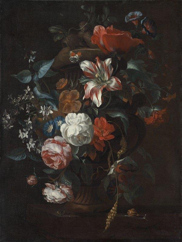 Philip van Kouwenbergh - Flowers in a Vase
