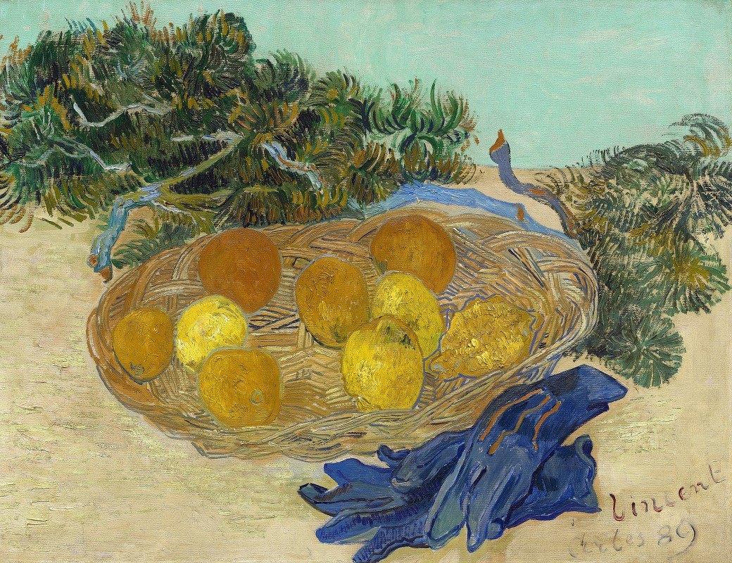 Vincent van Gogh - Still Life of Oranges and Lemons with Blue Gloves