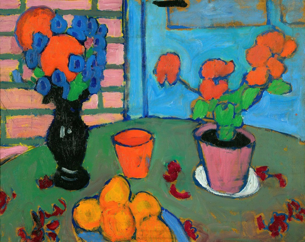 Alexej von Jawlensky - Still-Life With Flowers And Oranges
