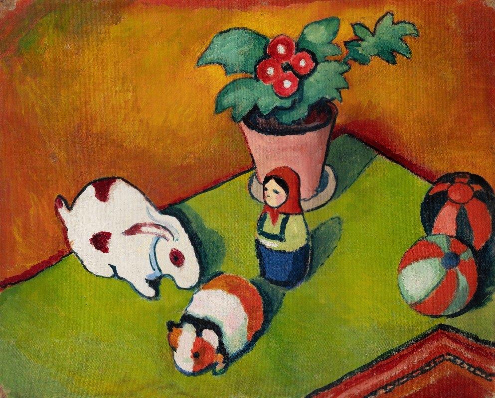August Macke - Little Walter'S Toys