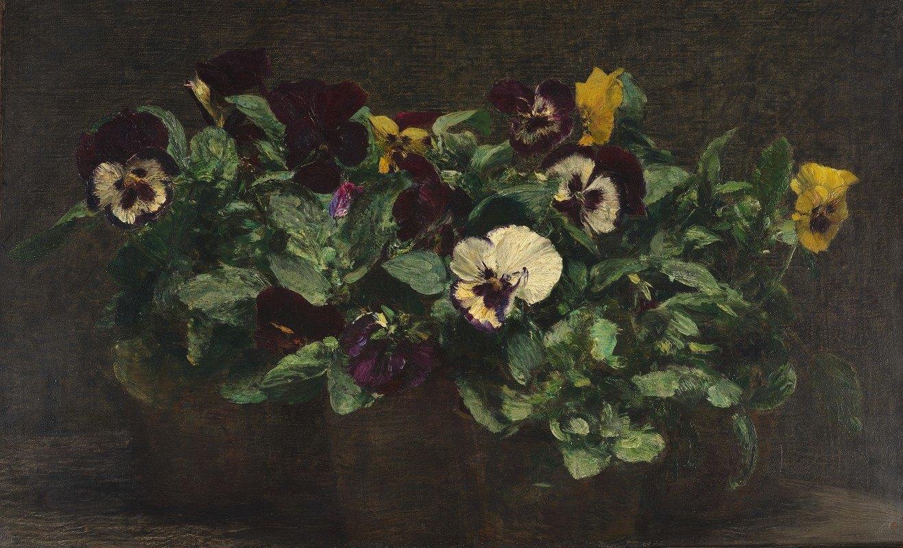 Henri Fantin-Latour - Still Life With Pansies