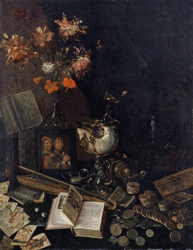 Johann Rudolf Loutherburg - Vanitas Still Life