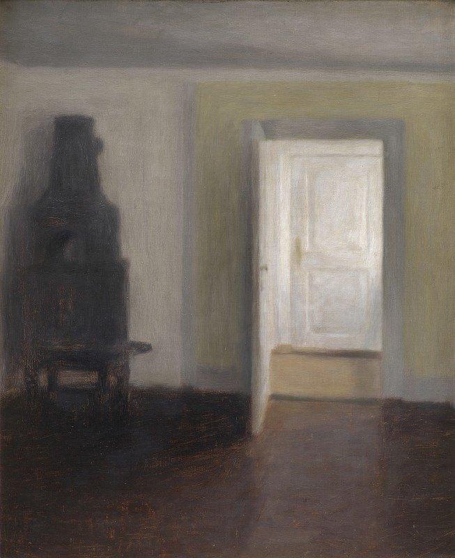 Vilhelm Hammershøi - Interior. An Old Stove