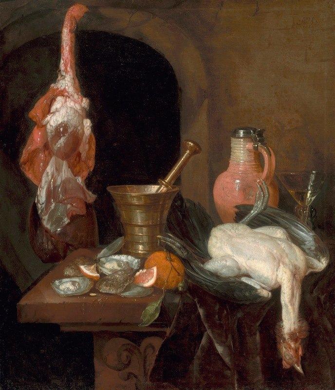 Abraham van Beyeren - Preparations for a Meal