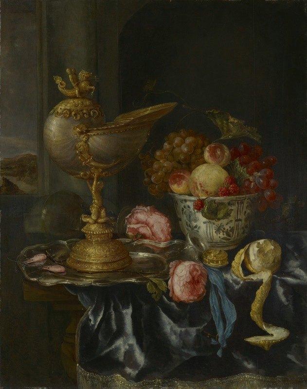 Abraham van Beyeren - Banquet Still Life with NautilusCup