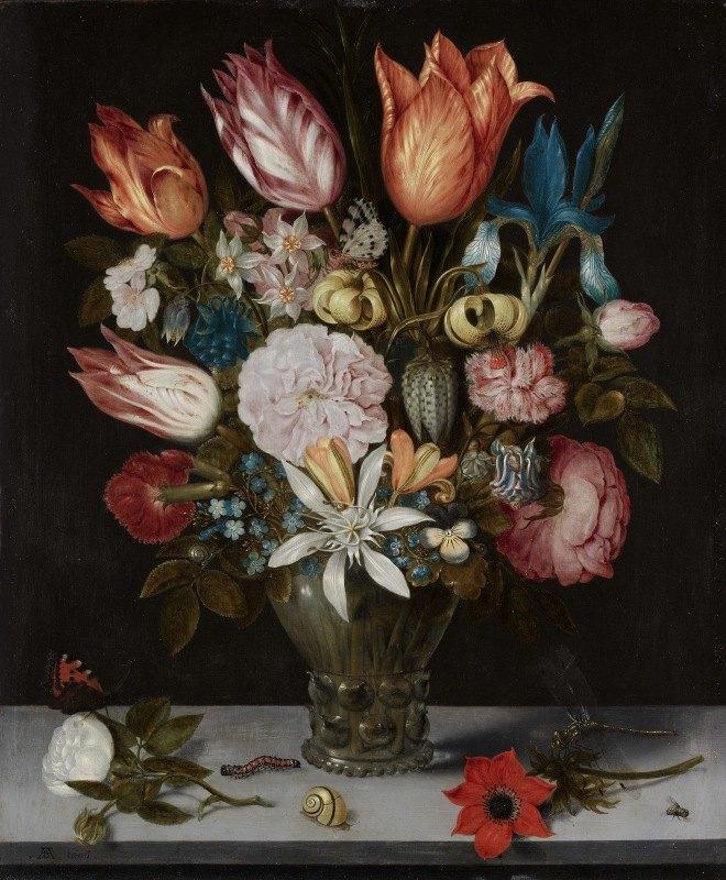 Ambrosius Bosschaert - Flowers in a Glass