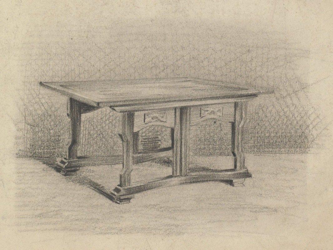 Carel Adolph Lion Cachet - Ontwerp voor een tafel