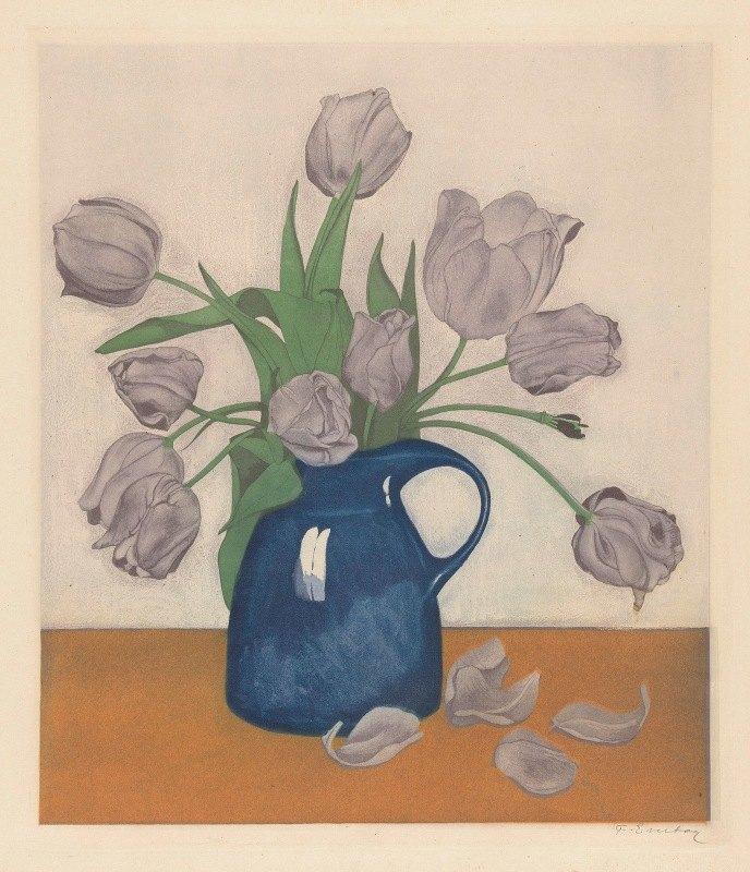 Frans Everbag - Tulpen in een kan