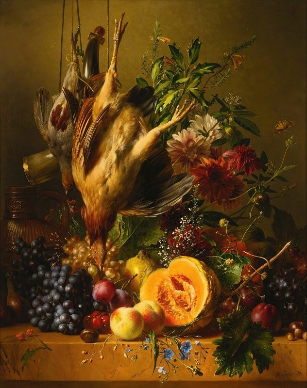 Hendrik Reekers - Still Life With Game And Fruit