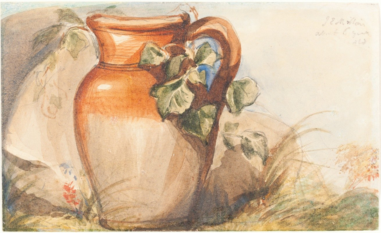 Sir John Everett Millais - Study of a Pottery Jug