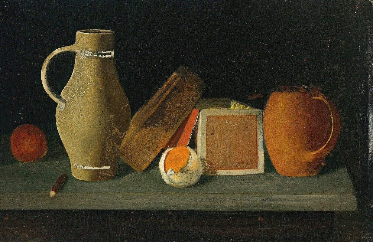 John Frederick Peto - Jug, Book, Box And Mug