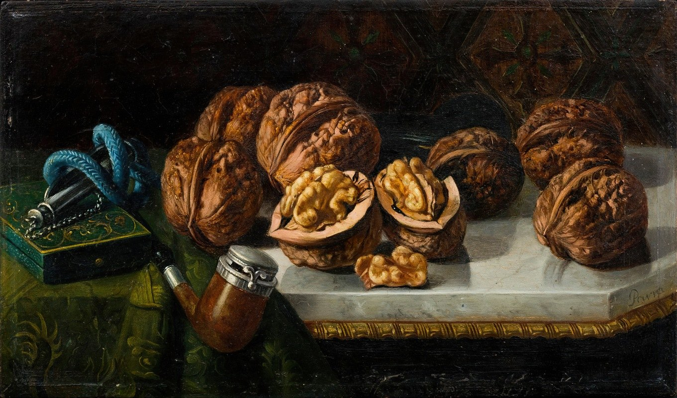 Jose Felipe Parra - Still Life with Walnuts and Meerschaum