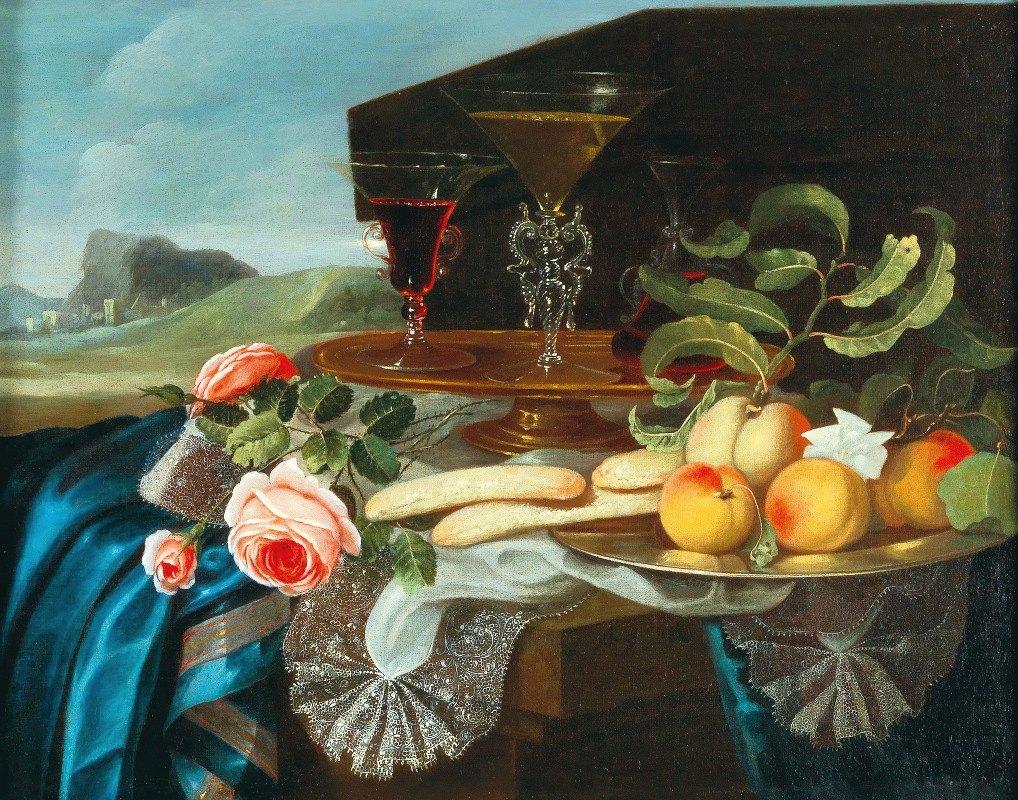 Maximilian Pfeiler - Still life of flowers and fruit