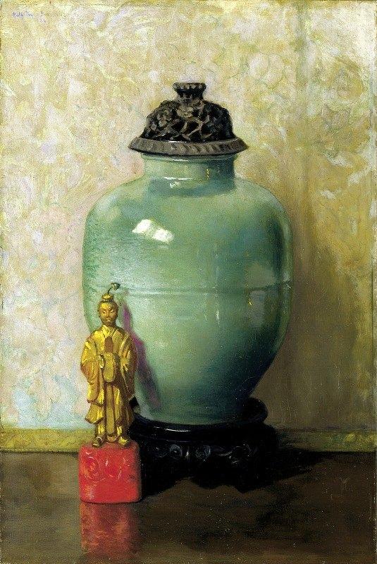 Ruth Payne Burgess - Green Chinese Jar