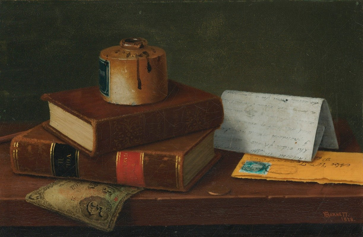 William Michael Harnett - Still Life With Letter To Mr. William Taggart, Esq.