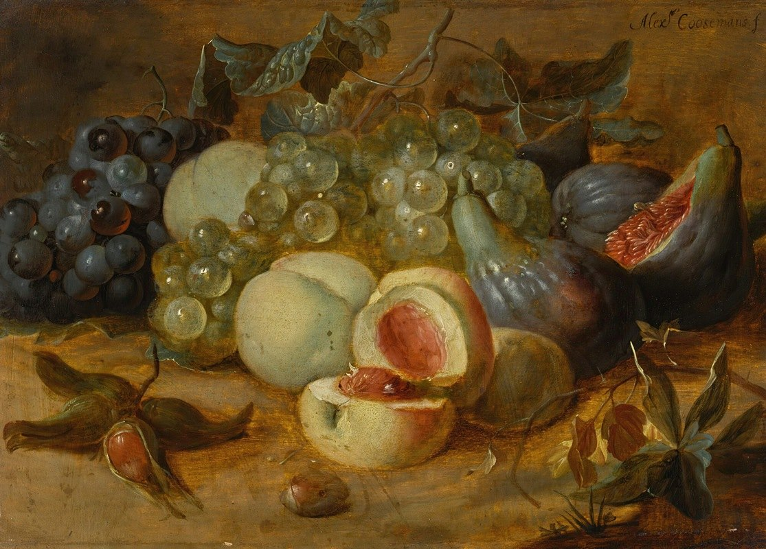 Alexander Coosemans - Still life with peaches and figs