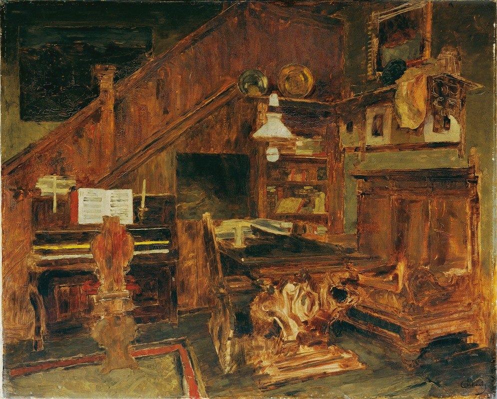 Carl Schuch - Atelier des Künstlers in Venedig