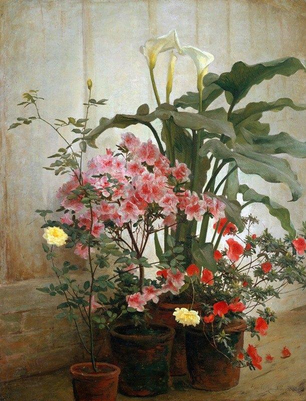 George Cochran Lambdin - Side of a Greenhouse