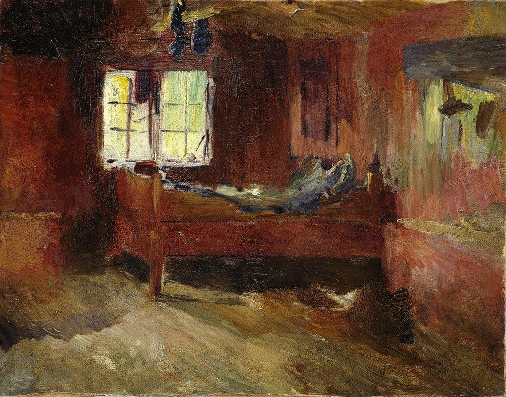 Harriet Backer - Farm Interior, Strålsjøhaugen