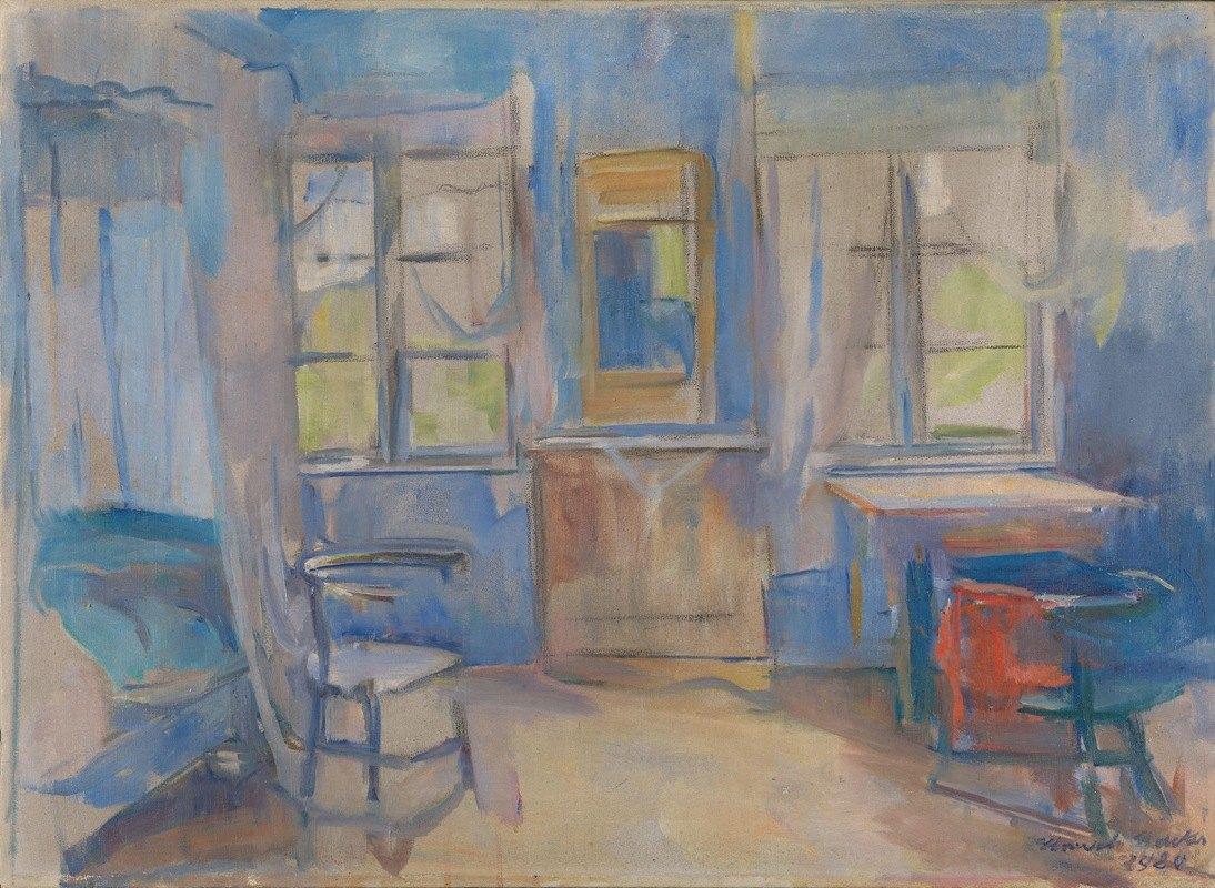 Harriet Backer - Interior from Einabu in Foldal