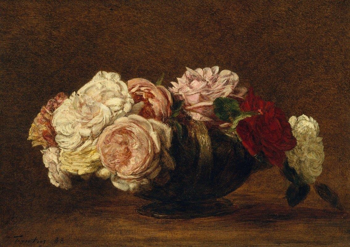 Henri Fantin-Latour - Roses in a Bowl