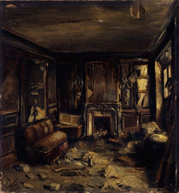 Henri-Martin Vos - Une loge d'artiste à l'Opéra-Comique, après l'incendie du 15 mai 1887