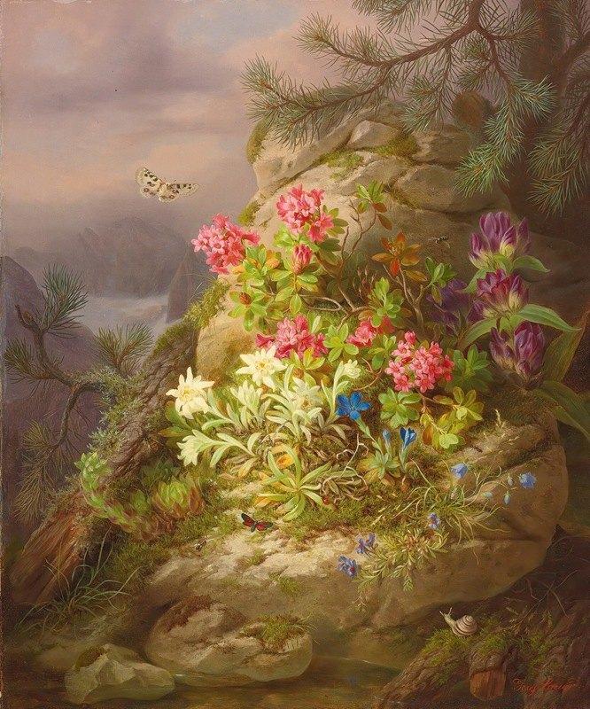Josef Lauer - Still life with snail